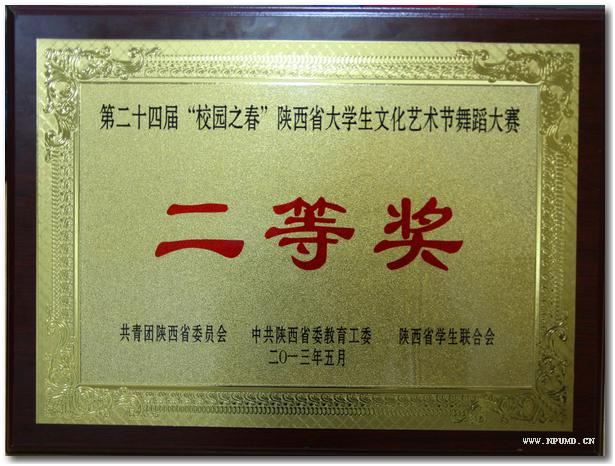 明德学院舞蹈队荣获陕西省大学生舞蹈大赛二等奖